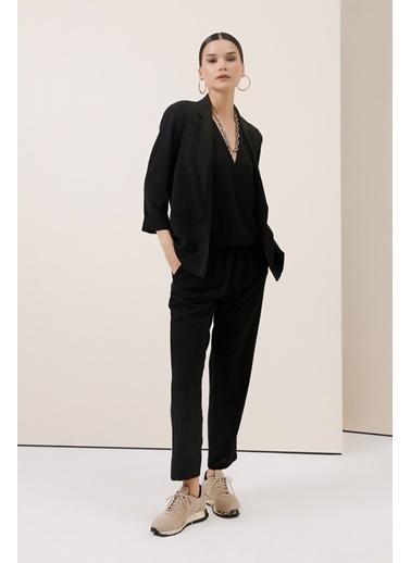 Gusto Rahat Kesim Blazer Ceket - Haki Rahat Kesim Blazer Ceket - Haki Siyah